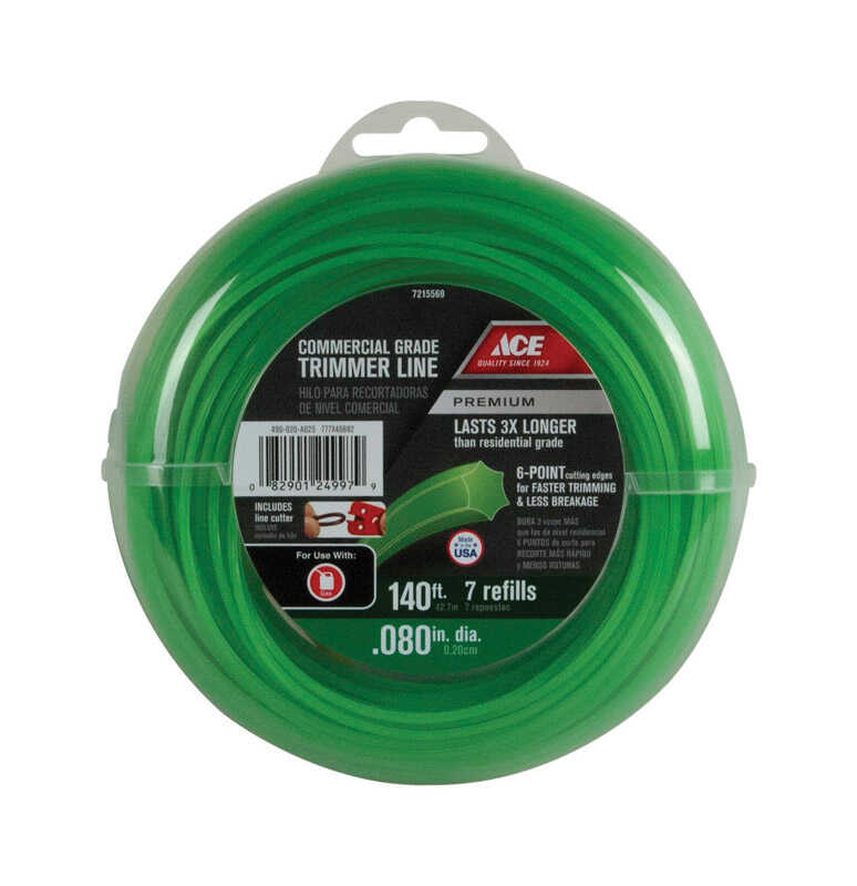 Ace  Premium  Commercial Grade  0.080 in. Dia. x 140 ft. L Trimmer Line
