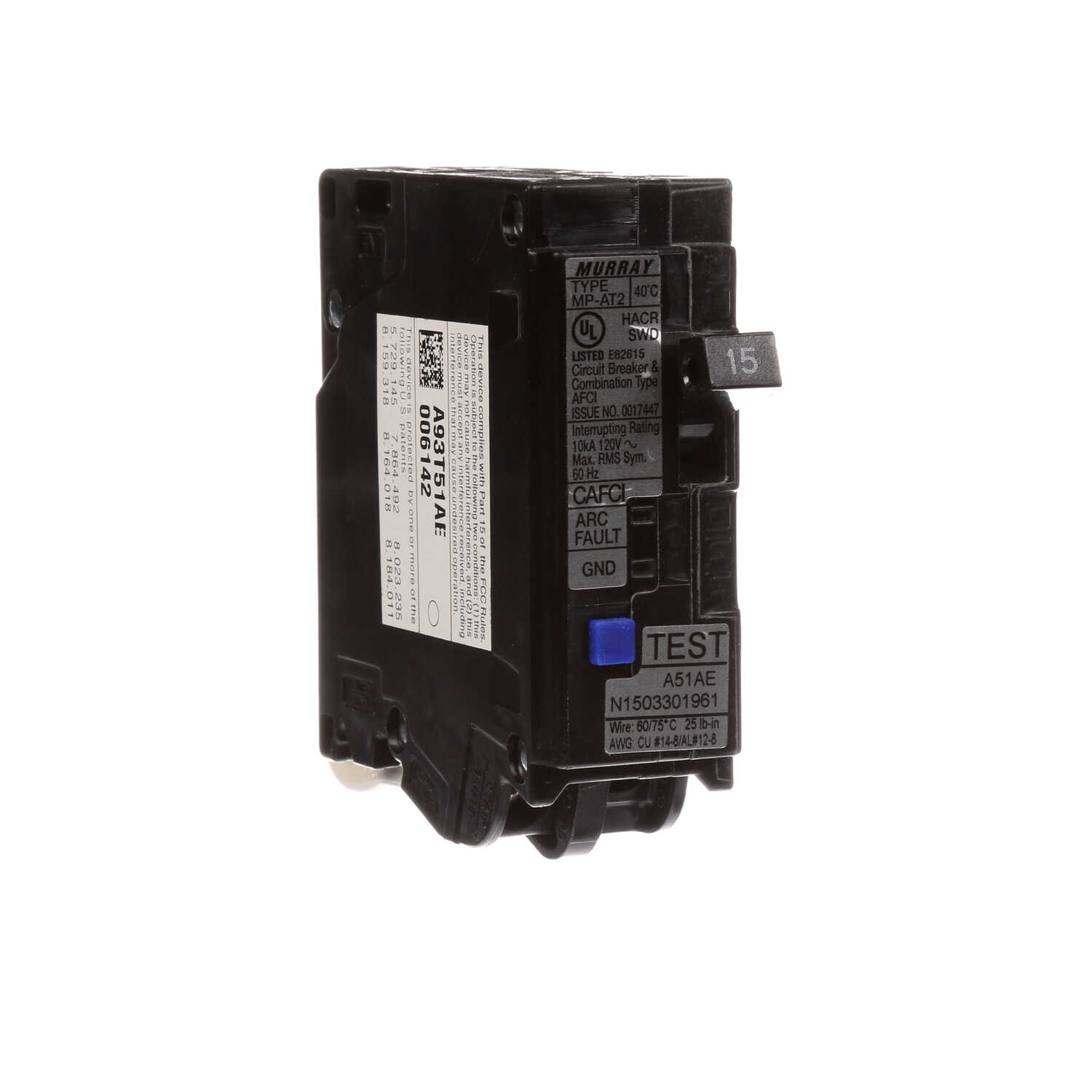Siemens  15 amps Combination  Single  Arc Fault Breaker