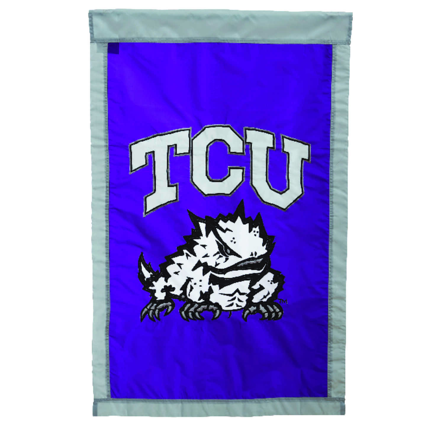 Evergreen  TCU  Flag  28 in. H x 44 in. W
