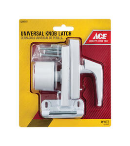 Ace  White  Steel  Universal Knob Latch  1 pk