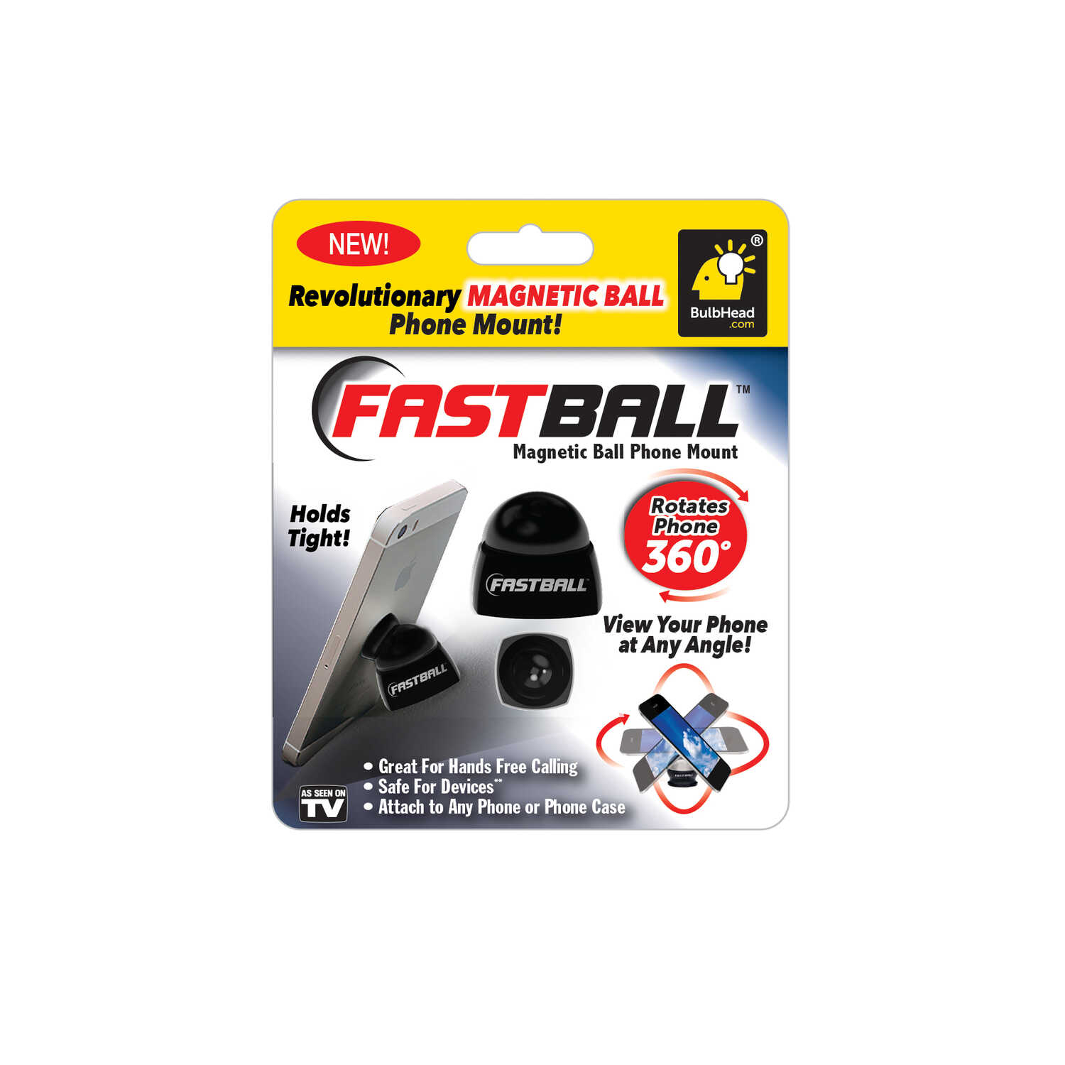 Fast Ball  As Seen On TV  Magnetic Ball  Phone Holder  1 pk