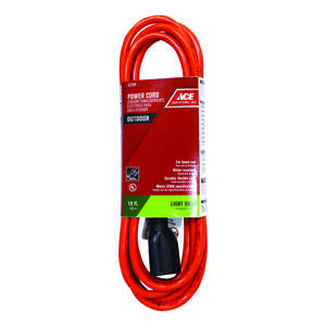 Ace  10 ft. L Orange  Extension Cord  Indoor and Outdoor  16/3 SJTW