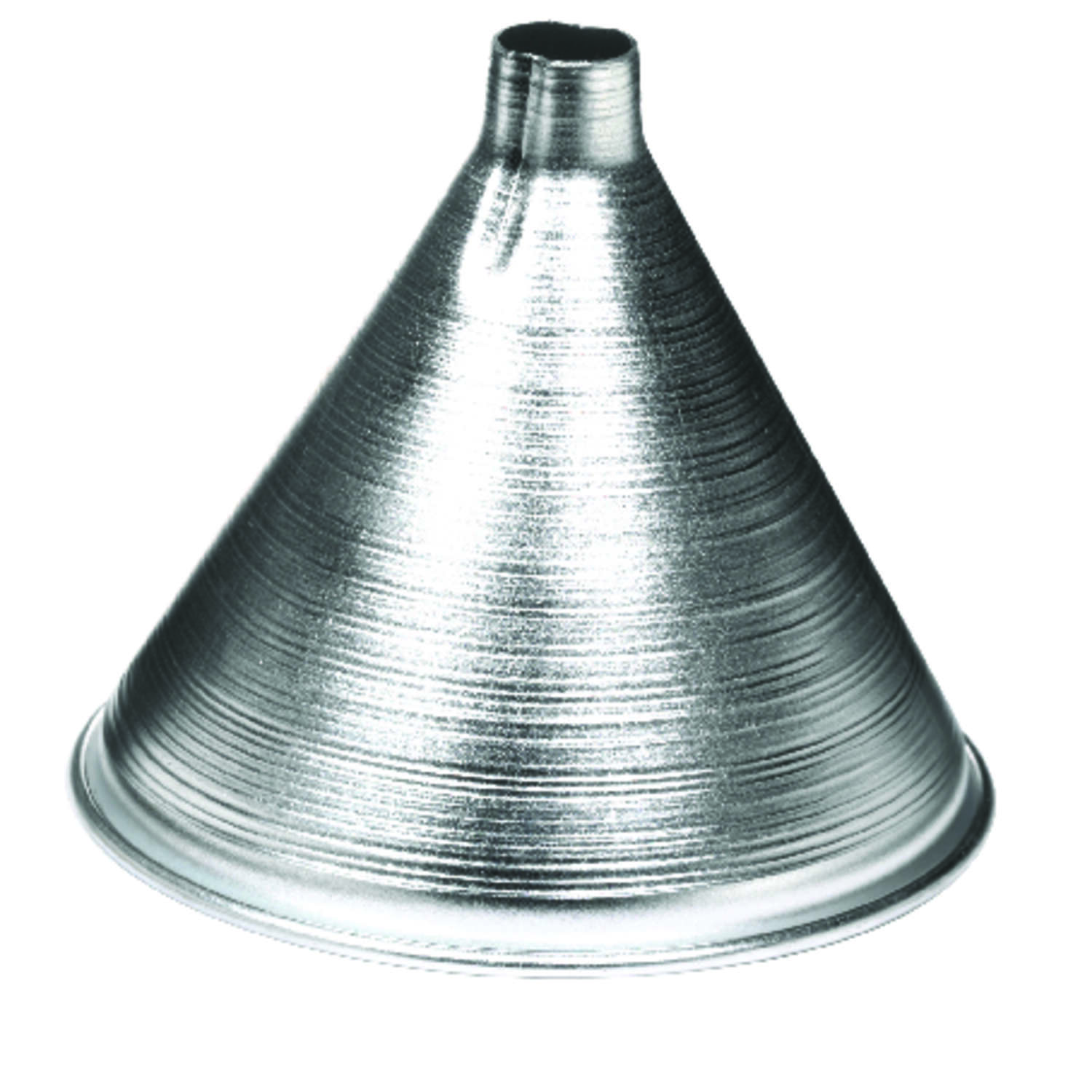 HIC  Silver  4 in. H Aluminum  8 oz. Funnel