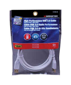 Monster Cable  Hook It Up  6 ft. L USB Cable