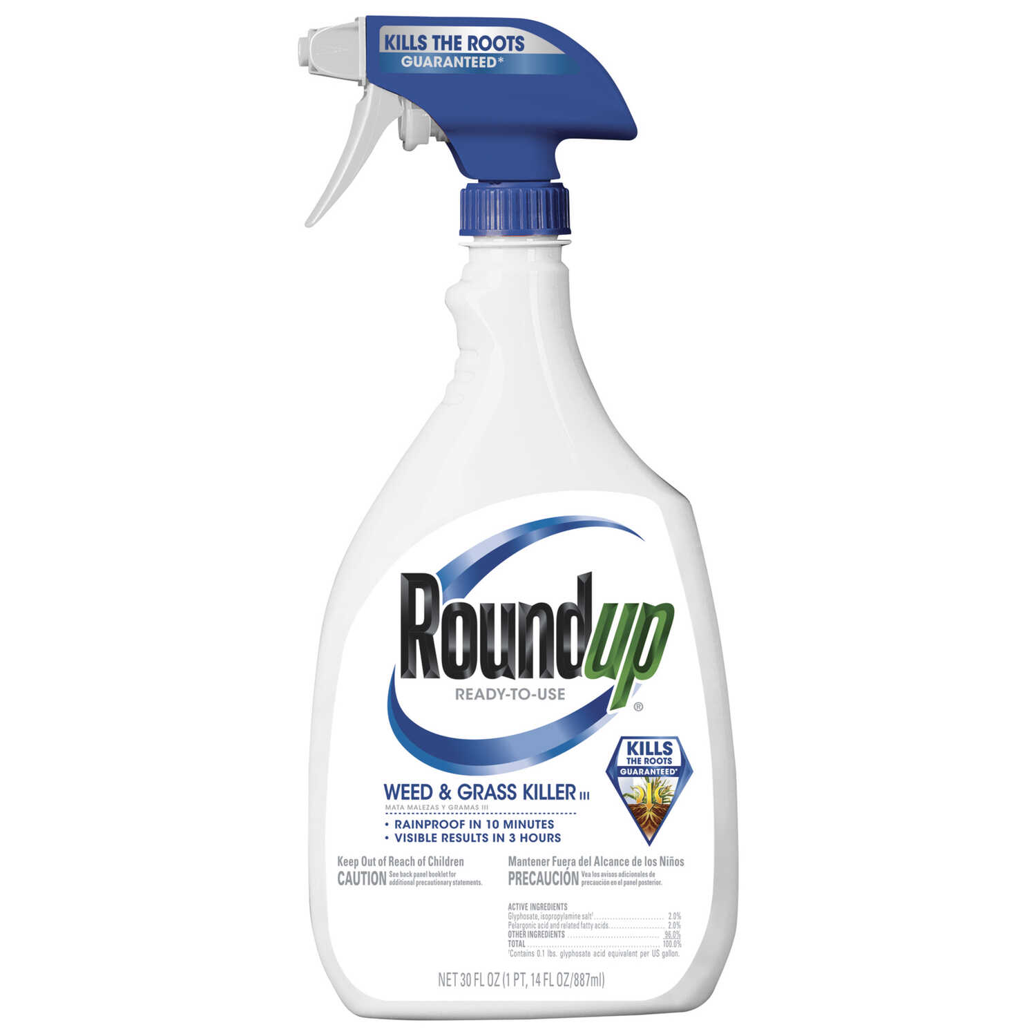 Roundup  RTU Liquid  Weed and Grass Control  30 oz.