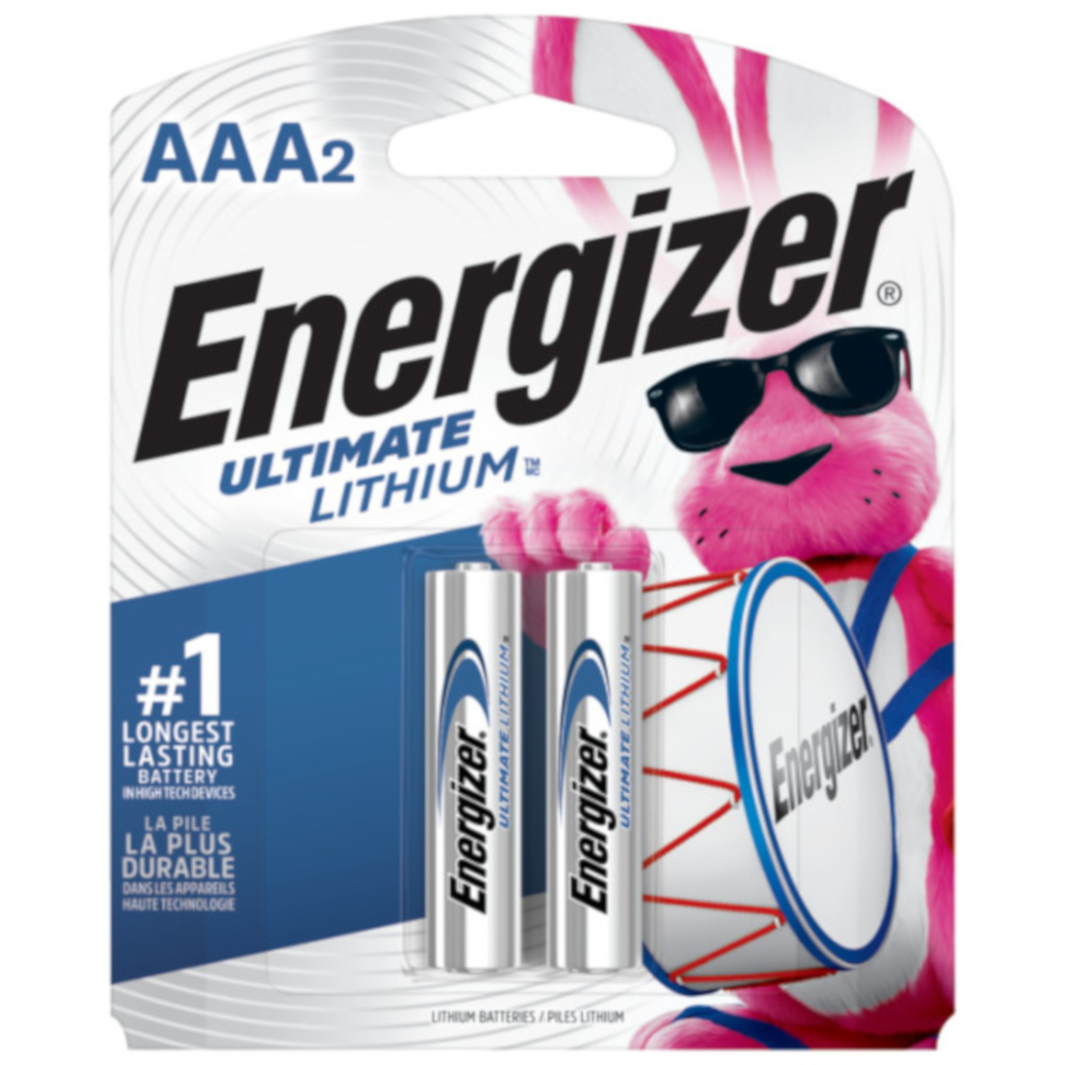 Energizer  Ultimate  AAA  Camera Battery  L92BP-2  2 pk Lithium