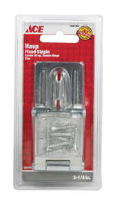 Ace  Zinc  3-1/4 in. L Double Hinge Safety Hasp