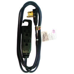 Ace  Indoor  6 ft. L Black  Extension Cord  16/3 STP-3