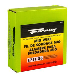 Forney  0.035 in. Mild Steel  Flux Cored Wire  10 lb.