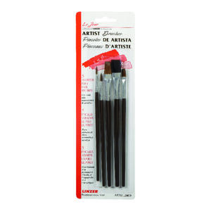 Linzer  .1 in. W Assorted  Natural Bristle  Artist Paint Brush Set