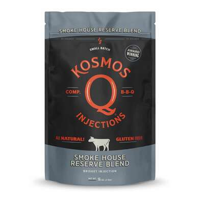 Kosmos Q Smoke House Reserve Blend Brisket Marinade Injection 16 oz.