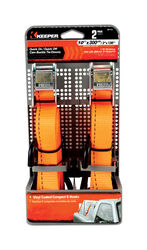 Keeper  1 in. W x 10 ft. L Orange  Tie Down  300 lb. 2 pk