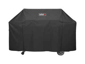 Weber  Genesis II  Black  Grill Cover  73 in. W x 25 in. D x 44.5 in. H For Fits Genesis II and Gene