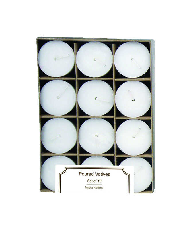 Langley Empire  White  No Scent Votive  Candle