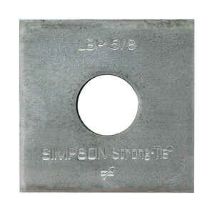 Simpson Strong-Tie  2 in. H x 0.1 in. W x 2 in. L Galvanized  Steel  Bearing Plate