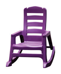 Adams  Lil' Easy  1 pc. Bright Violet  Polypropylene Frame Stackable  Kid's Rocking Chair