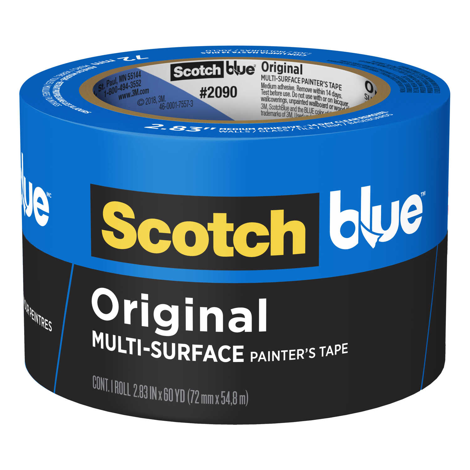 3M  Scotch Blue  2.83 in. W x 60 yd. L Blue  1 pk Medium Strength  Painter's Tape