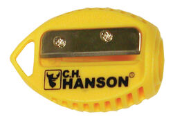 C.H. Hanson VersaSharp 2.3 in. L x 1.1 in. W Carpenter Pencil Sharpener Yellow Plastic 1 pc.