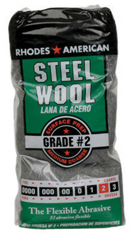 Rhodes American  2 Grade Medium  Steel Wool Pad  12 pk