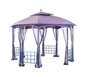 Living Accents  Polyester  Octagon  Gazebo  113.6 in. H