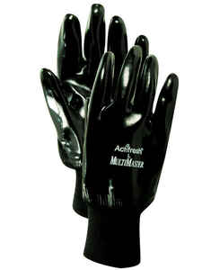Handmaster  Men's  Indoor/Outdoor  Neoprene  Coated  Gloves  Black  One Size Fits All