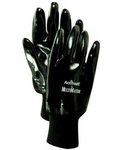 Handmaster  Men's  Indoor/Outdoor  Neoprene  Coated  Gloves  One Size Fits All  Black