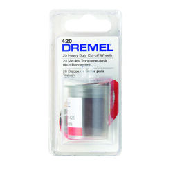 Dremel  1-1/2 in. Dia. x 1/8 in. in.  Aluminum Oxide  Metal Cut-Off Wheel  20 pc.