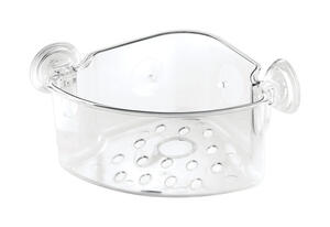 InterDesign  Power Lock  Shower Basket  7-13/16 in. H x 11 in. W x 5 in. L Clear  Plastic