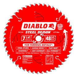 Diablo  7-1/4 in. Dia. x 5/8 in.  Carbide Tipped Metal  Circular Saw Blade  48 teeth 1 pc.