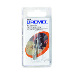 Dremel  1/4 in   x 1-1/2 in. L x 1/8 in. Dia. Steel  High Speed Router Bit  1 pk