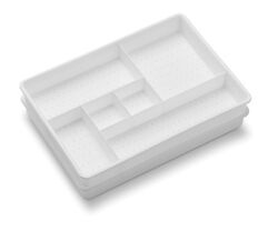 Madesmart  2.6 in. H x 7.5 in. W x 10.75 in. L White  Plastic  Drawer Organizer