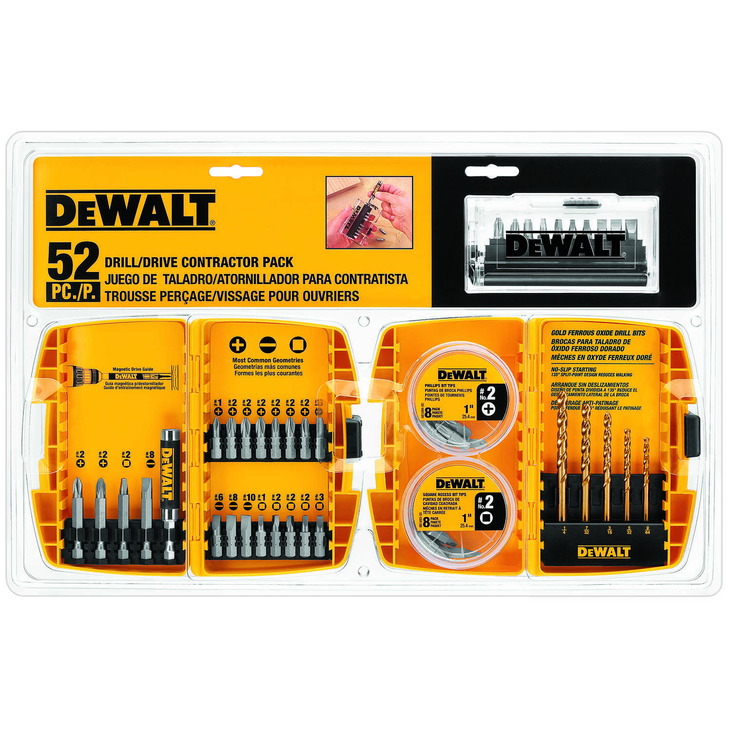 DeWalt  Multi Size in.  52 pc. Screwdriver Bit