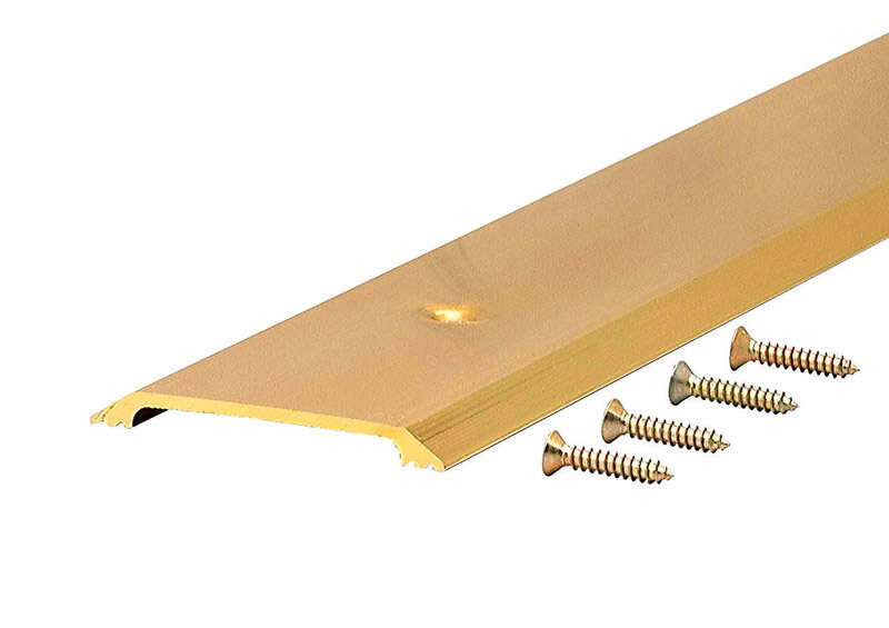 M-D  0.25  H x 2.5 in. W x 36 in. L Bright  Aluminum  Flat Top Threshold  Gold