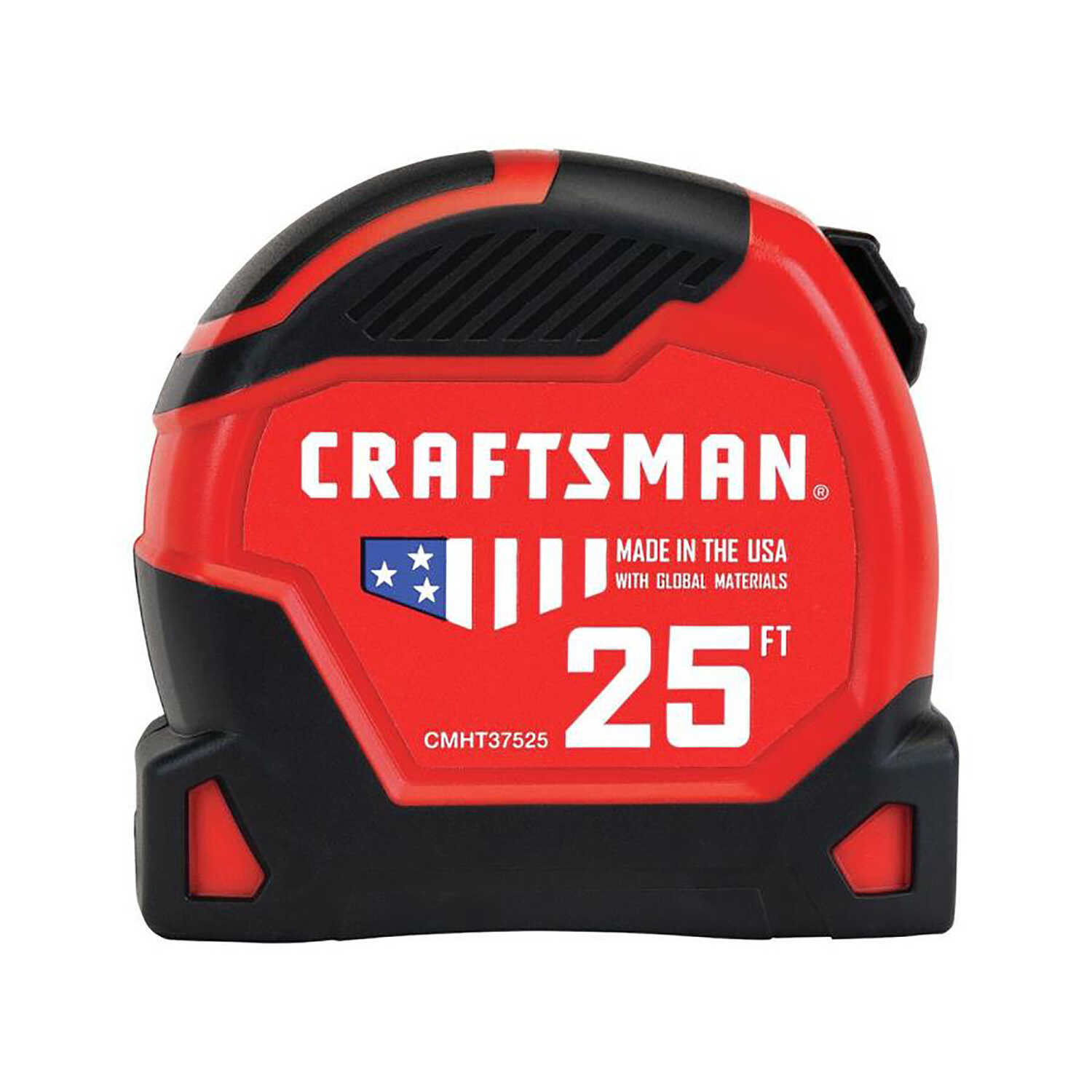 Craftsman  25 ft. L x 1.25 in. W Tape Measure  Black/Red  1 pk