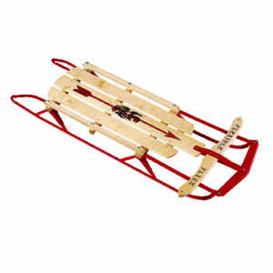 Flexible Flyer  Steel Runner  Wood  Sled  60 in.