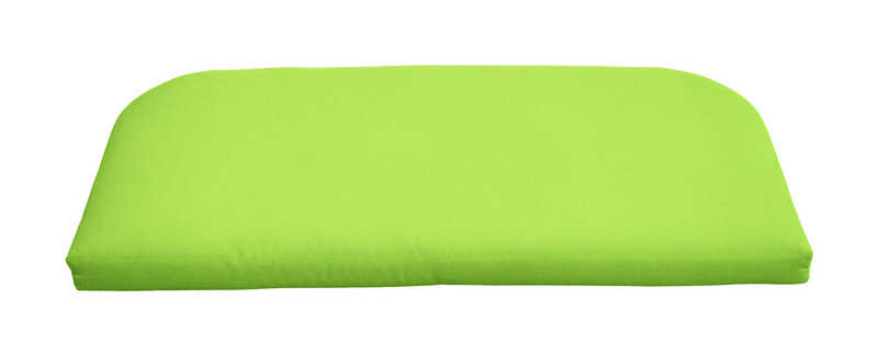 Casual Cushion  Polyester  Gray/Lime  2.5 in. H x 43.5 in. W x 19.5 in. L Seating Cushion