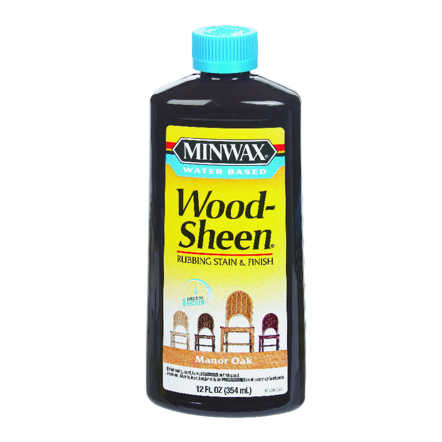 Minwax  Wood-Sheen  Transparent  Manor Oak  Deep Base  Latex  Rubbing Stain and Finish  12 oz.