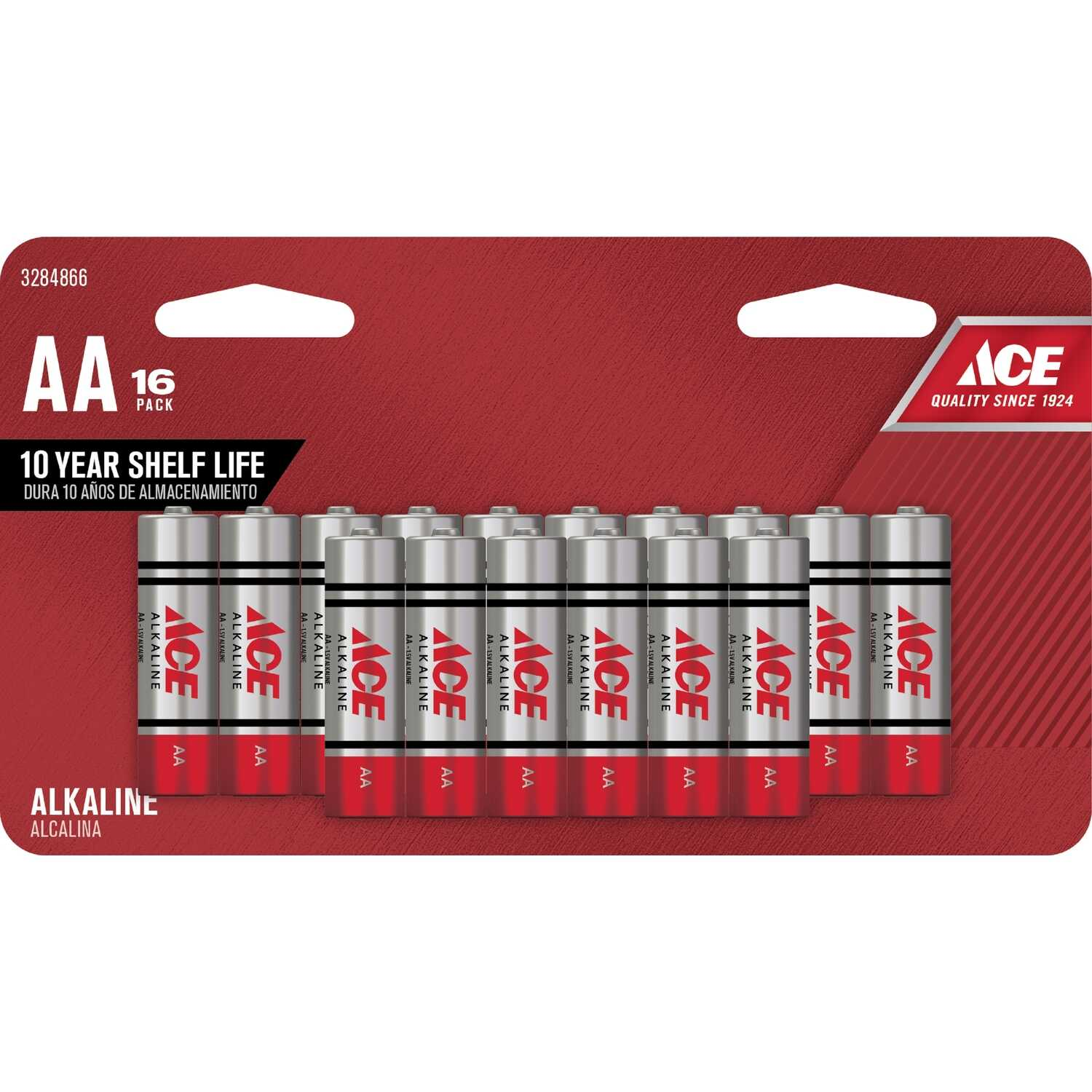 Ace  AA  Alkaline  Batteries  1.5 volts 16 pk Carded
