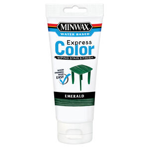 Minwax  Express Color  Semi-Transparent  Emerald  Water-Based  Acrylic  Wiping Stain and Finish  6 o