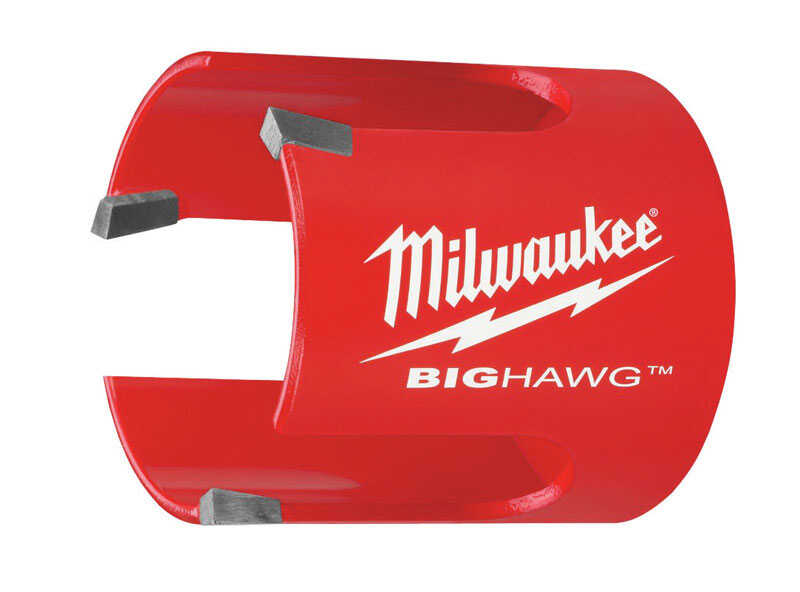 Milwaukee  BIG HAWG  6-1/4 in. Dia. x 2-1/4 in. L Bi-Metal  Carbide Tipped  1/4 in. 1 pc. Hole Saw