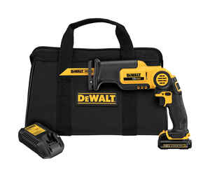 DeWalt  Pivoting  Cordless  Reciprocating Saw Kit  10 amps 12 volts 2700 spm 9/16 in. Kit