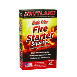 Rutland Safe Lite Wood Fire Starter 24 pk