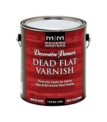 Modern Masters  Semi-Gloss  Clear  Water-Based  Dead Flat Varnish  1 gal.