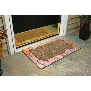 GrassWorx  Lancaster Jute  Brown  Polyethylene/Rubber  Nonslip Door Mat  30 in. L x 18 in. W