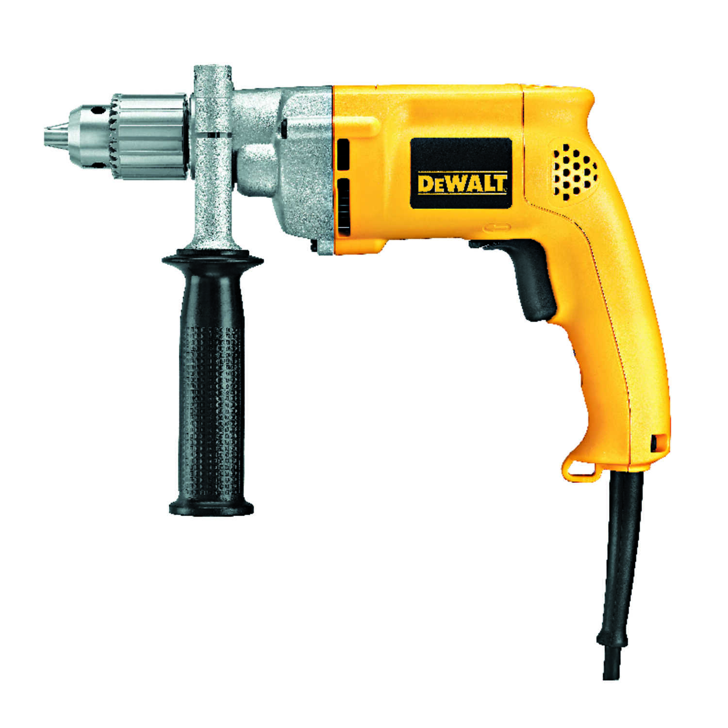 DeWalt  1/2 in. Keyed  VSR Corded Drill  8.5 amps 1000 rpm