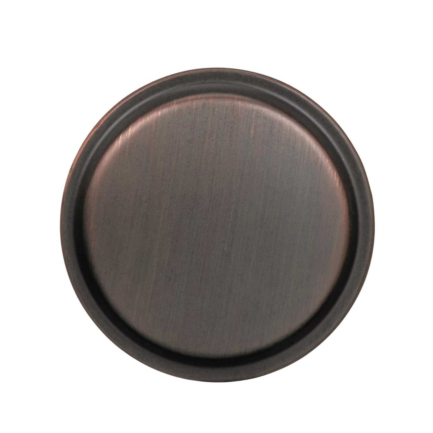 Amerock  Westerly Collection  Round  Cabinet Knob  1-3/16 in. Dia. 1-3/16 in. Oil Rubbed Bronze  1 p