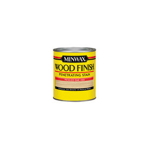 Minwax  Wood Finish  Semi-Transparent  Pickled Oak  Oil-Based  Wood Stain  1/2 pt.