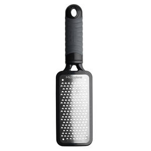 Microplane  3-3/8 in. W x 10-3/4 in. L Silver/Black  Stainless Steel  Large Grater