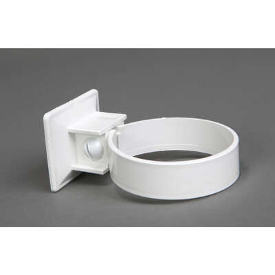 Plastmo  Classic  3 in. W White  Vinyl  Downspout Bracket
