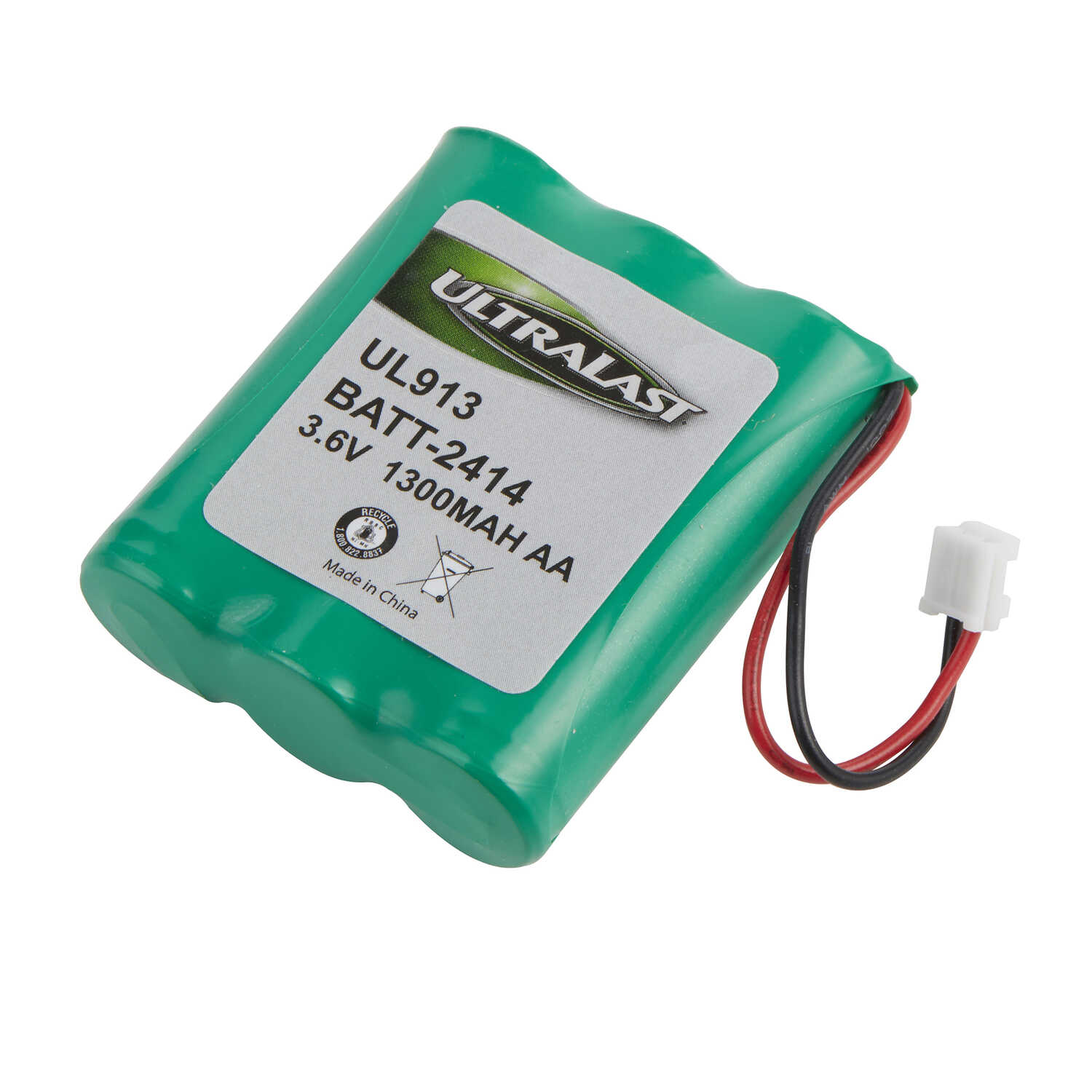 Ultralast  NiMH  AA  3.6 volt Cordless Phone Battery  BATT-2414  1 pk